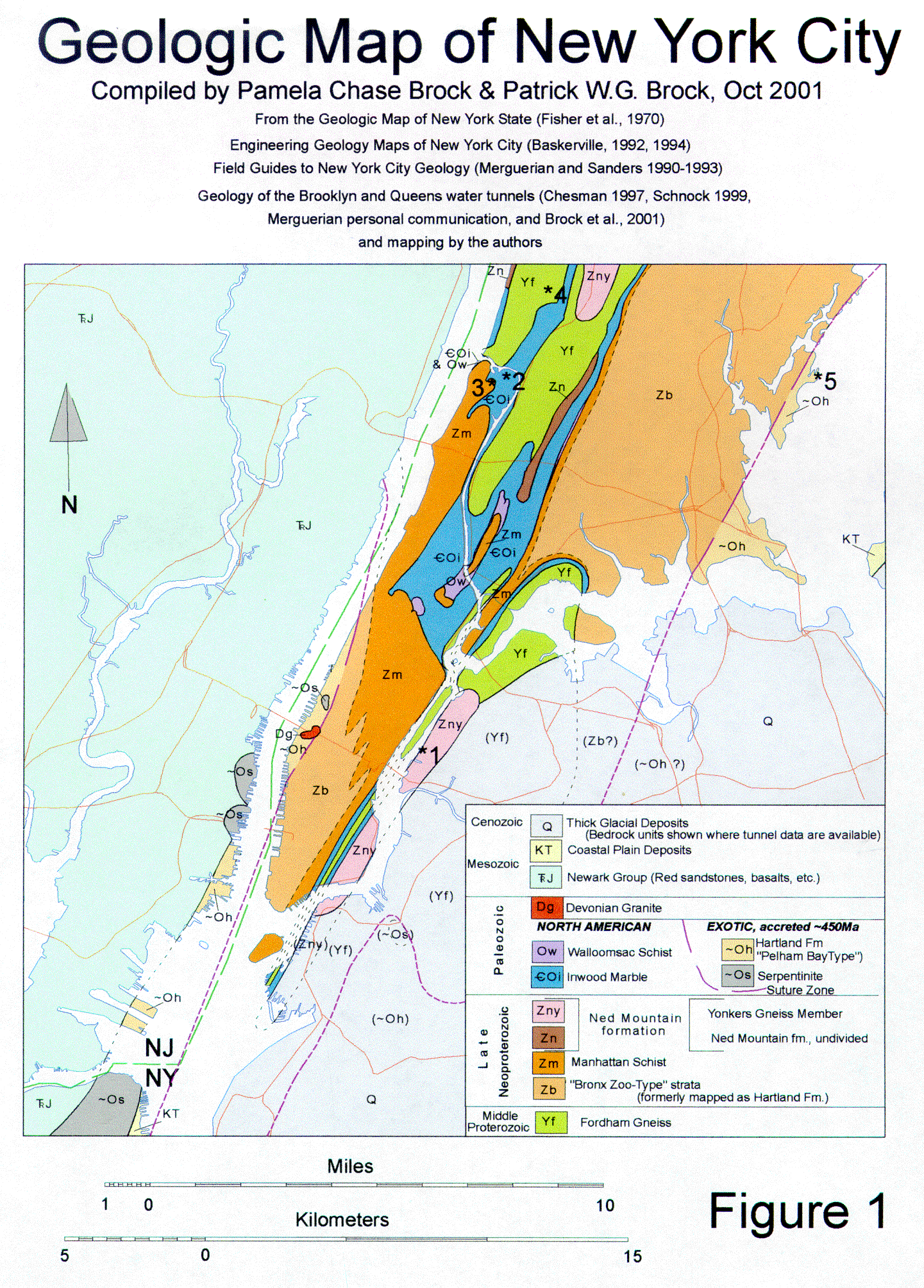 Map Of New York 2001.Geologic Map Of New York City